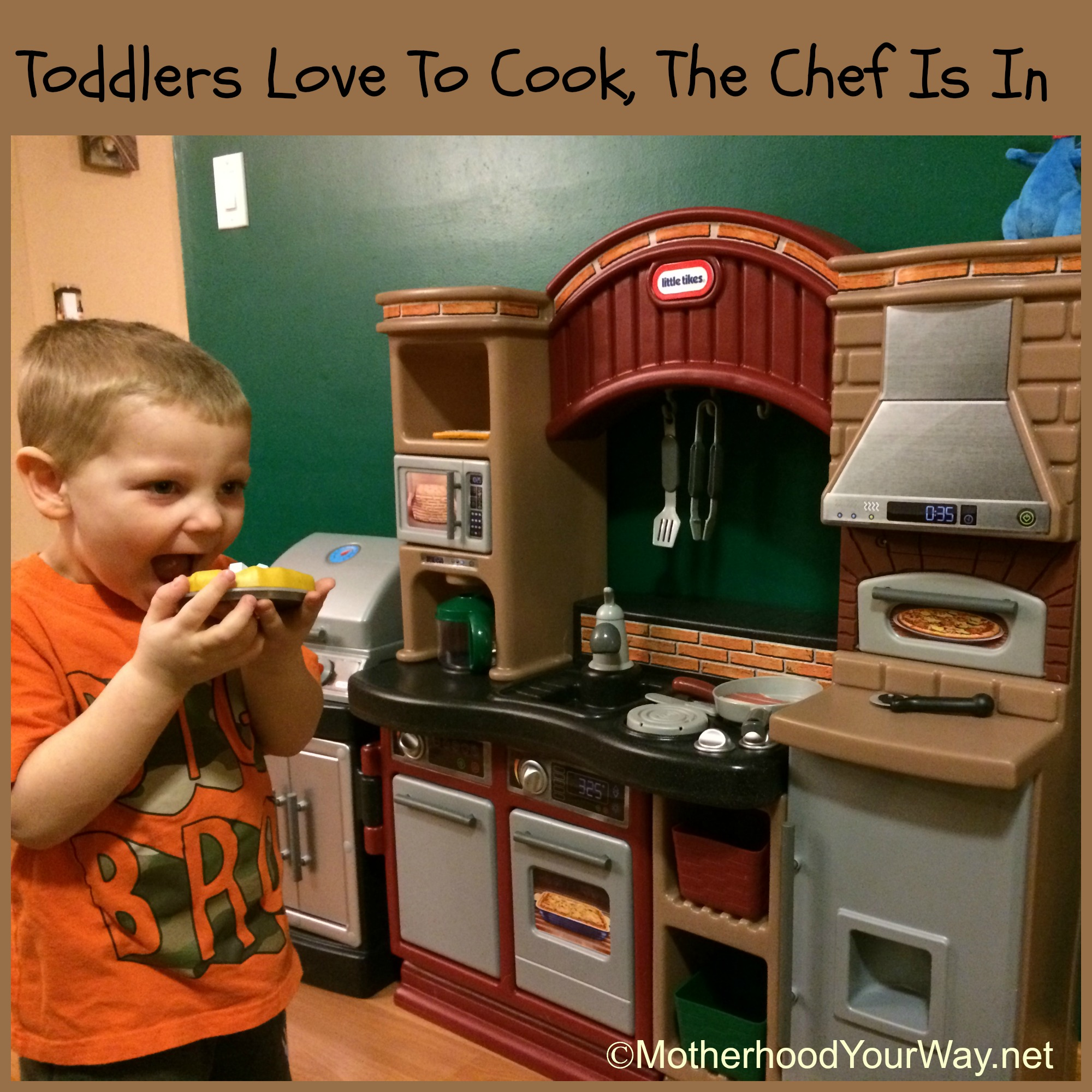 Toddlers Love To Cook, The Chef Is In