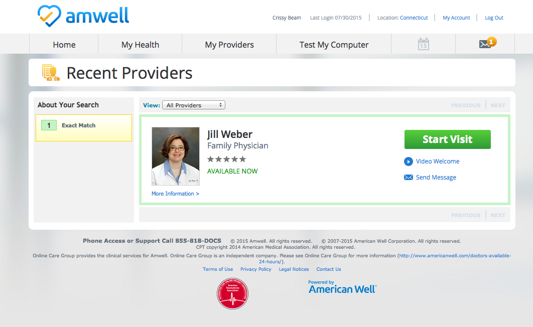 take your doctor with you on vacation with amwell