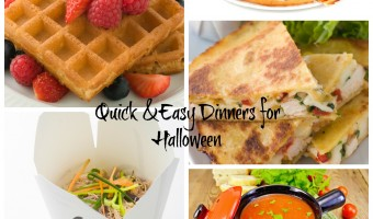Quick and Easy Dinners For Halloween #FallFun31