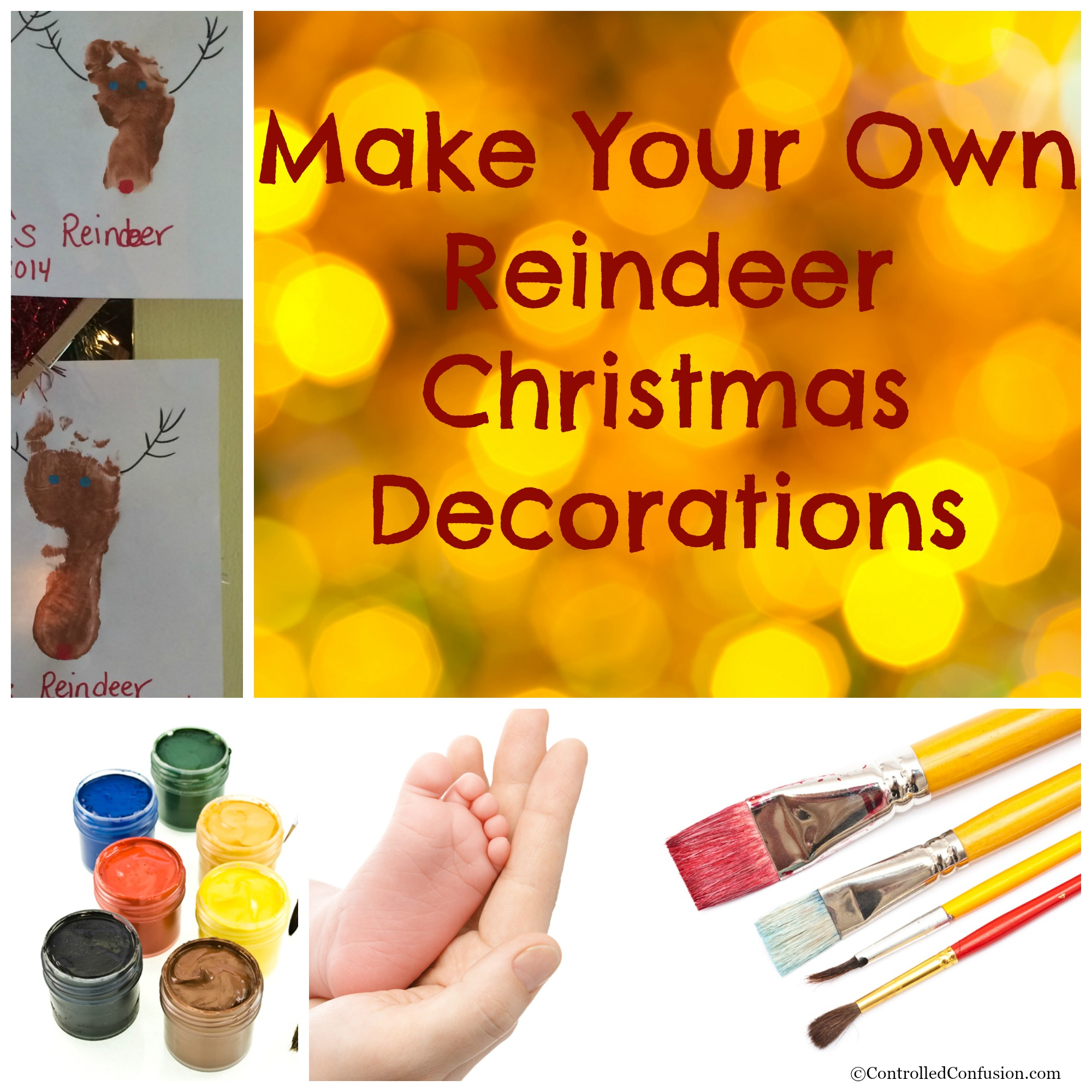 Make Your Own Reindeer Christmas Decorations Controlled