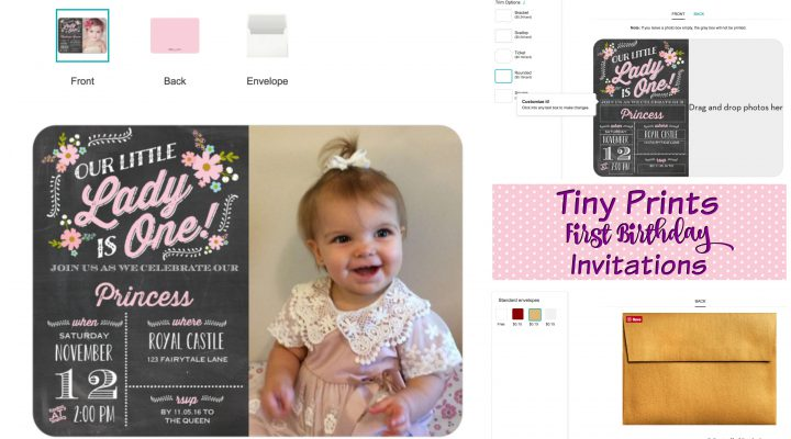 First Birthday Invitations to Impress With Tiny Prints