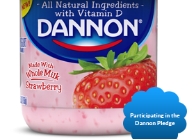 Dannon Whole Milk with Badge