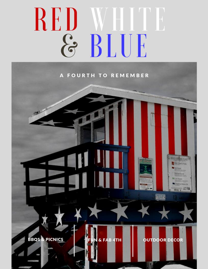 Red, White, Blue Summer Gift Guide