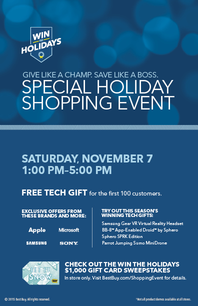 Join the Special Holidays Shopping Event At Best Buy